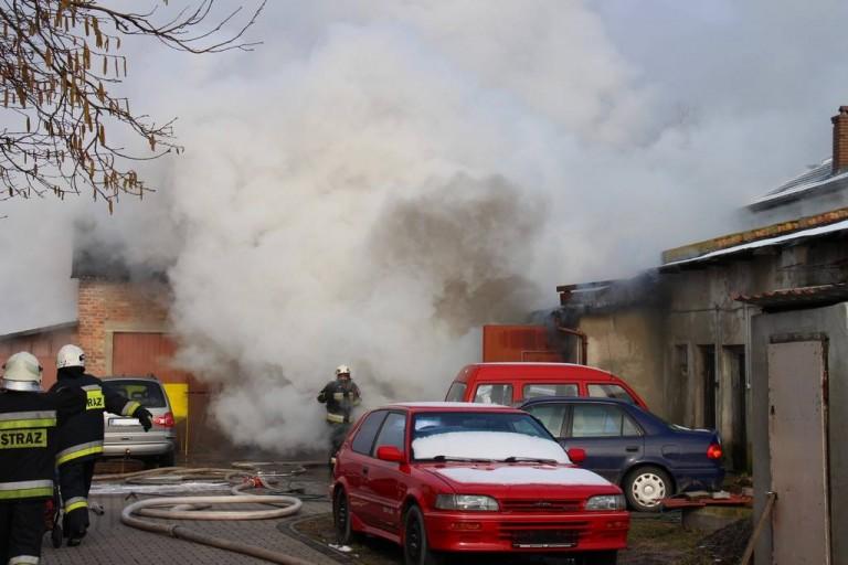 Pożar warsztatu Zielonki
