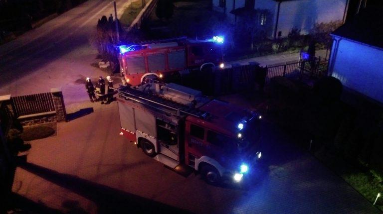 Pożar sadzy w kominie Stare Babice ul. Sienkiewicza