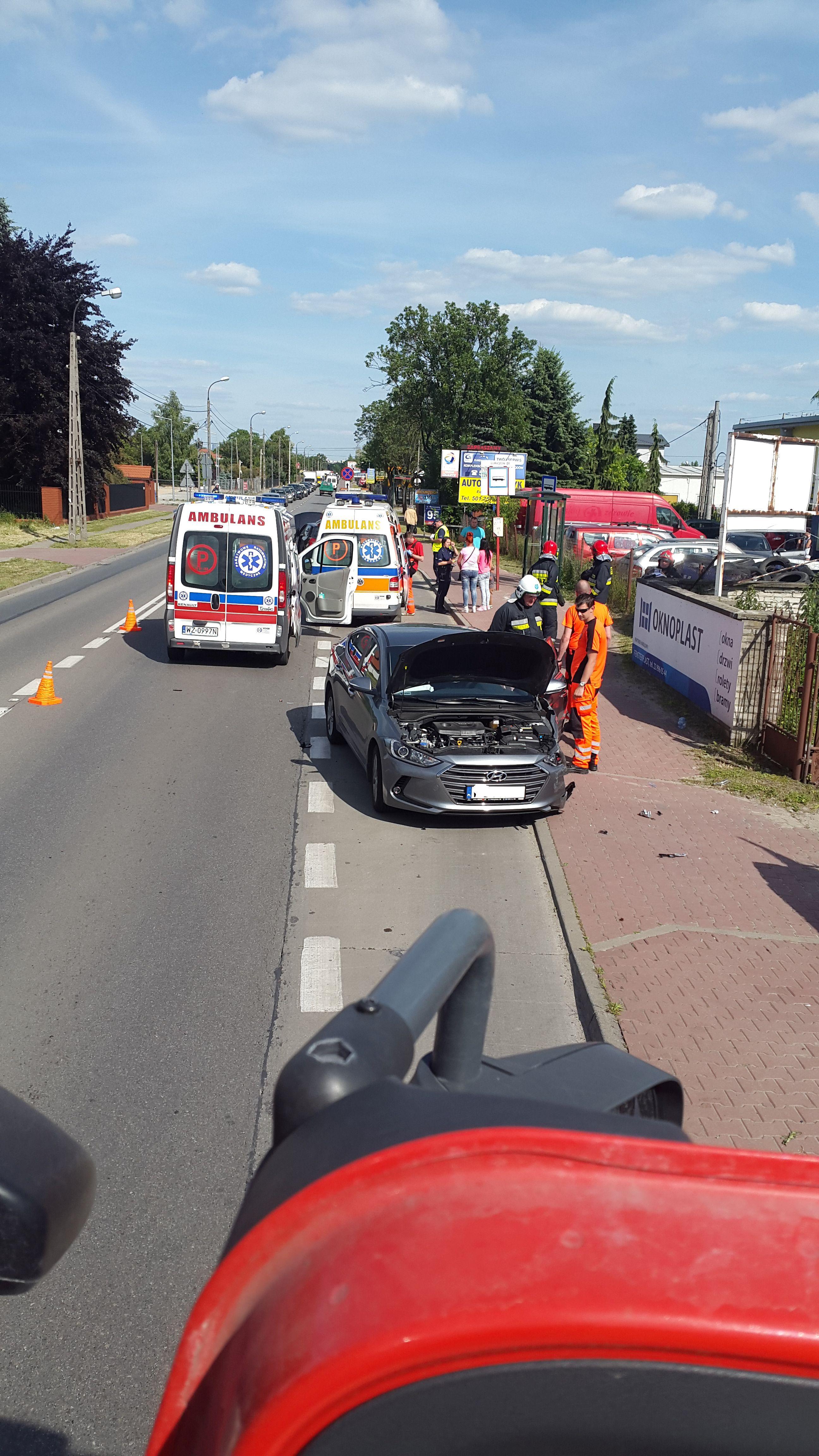 Wypadek Lubiczów ul. Warszawska