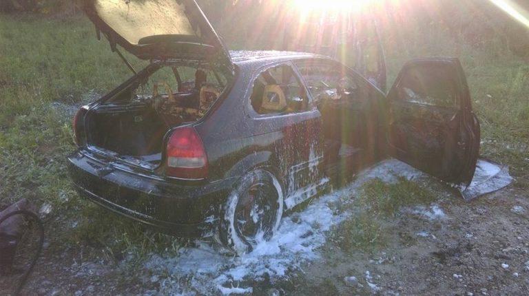 Pożar samochodu  osobowego ul. Koczarska Stare Babice