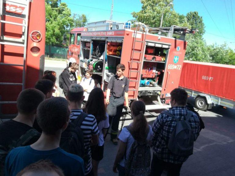 Wizyta uczniów gimnazjum w naszej jednostce