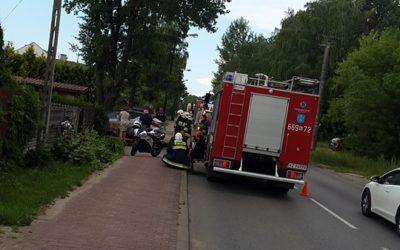 nr. 14.06.2018 – wypadek motocyklisty – Janów ul. Sikorskiego