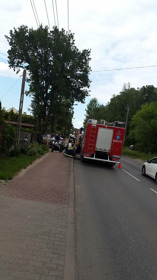 43. 14.06.2018 – wypadek motocyklisty – Janów ul. Sikorskiego