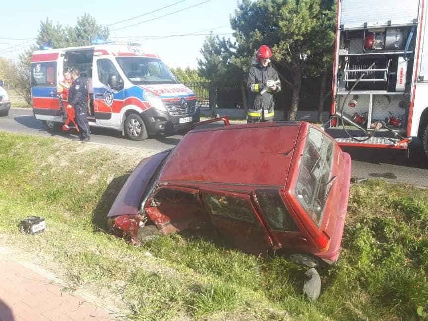 64. 17.10.2018 – Wypadek z udziałem dwóch samochodów – Zielonki Parcela ul. Południowa