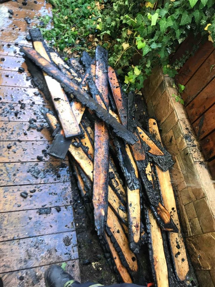 37. 21.05.2018 – Pożar drewna przy budynku mieszkalnym – Blizne Jasińskiego ul. Moniuszki