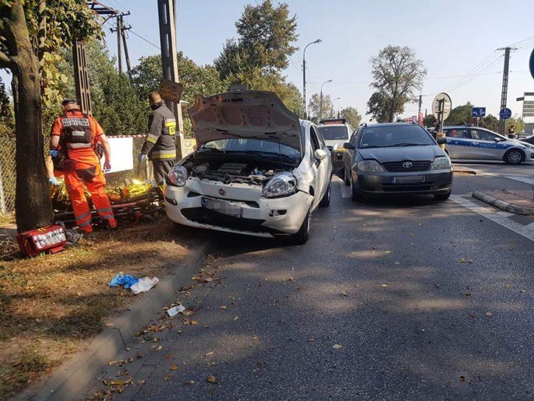 57. 21.09.2018 – Kolizja dwóch samochodów – Zielonki ul. Warszawska