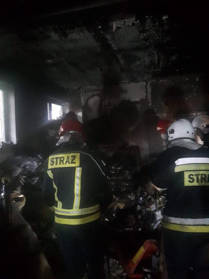 45. 26.06.2018 – Pożar pomieszczenia magazynowego w miejscowości Blizne Jasińskiego przy ulicy Warszawskiej