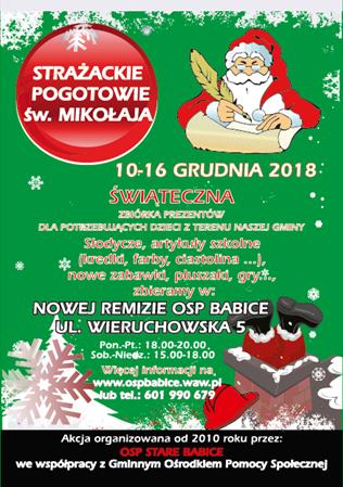 Strażackie Pogotowie św. Mikołaja 2018