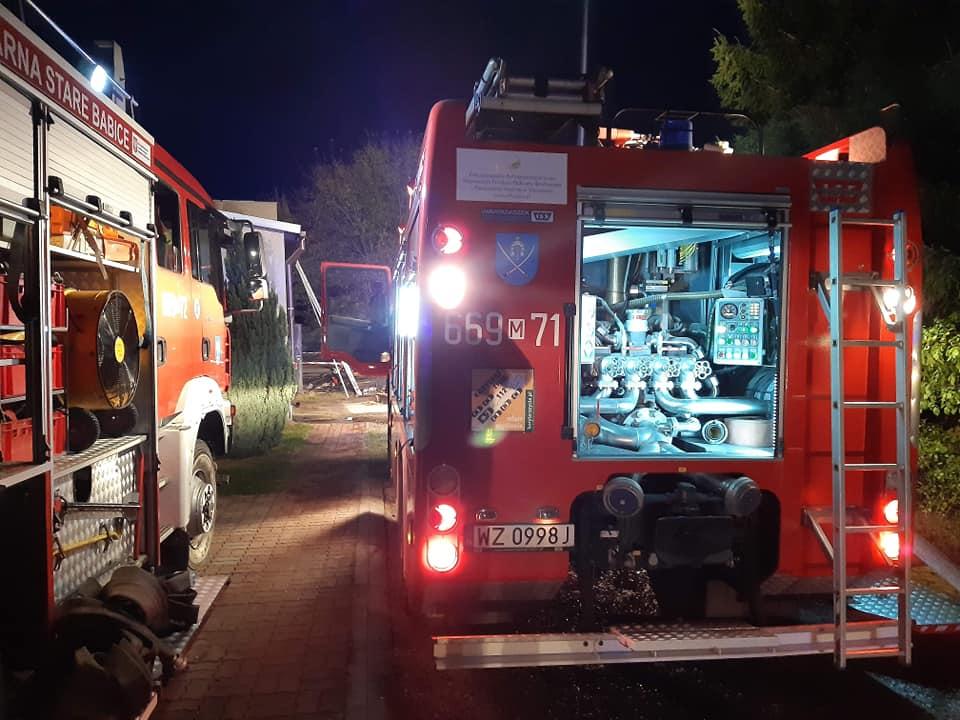 12 października – Pożar poddasza w miejscowości Zielonki Wieś przy ulicy Warszawskiej