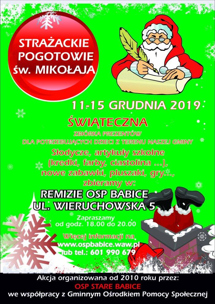 Strażackie Pogotowie św. Mikołaja 2019 – X edycja