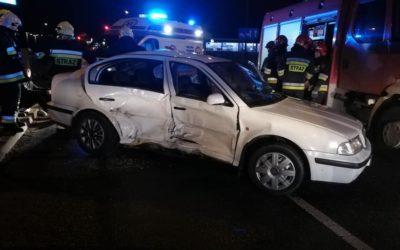 11 luty 2019 – Wypadek komunikacyjny – na skrzyżowaniu ulicy Warszawskiej z trasą S8