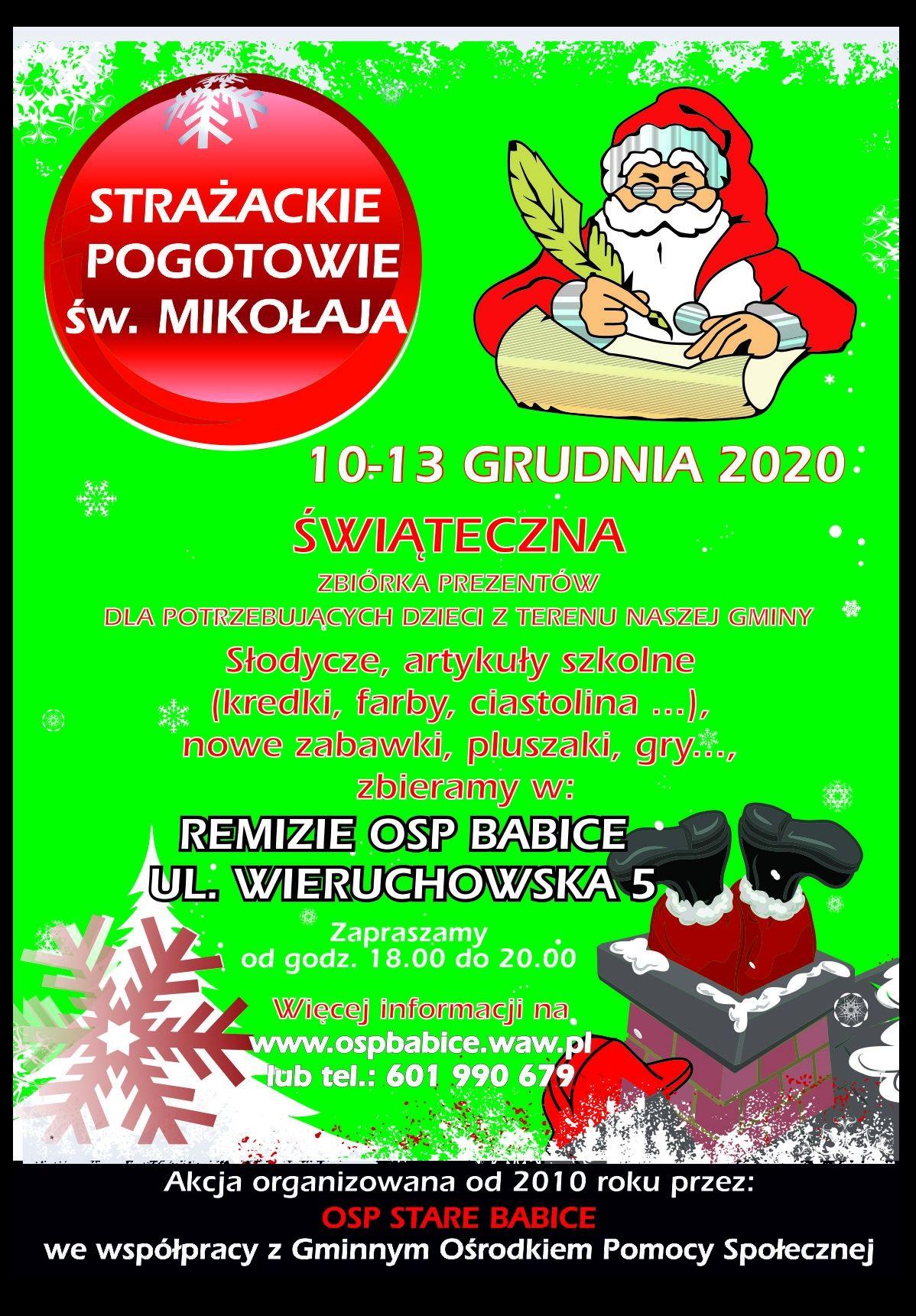 Strażackie Pogotowie św. Mikołaja 2020