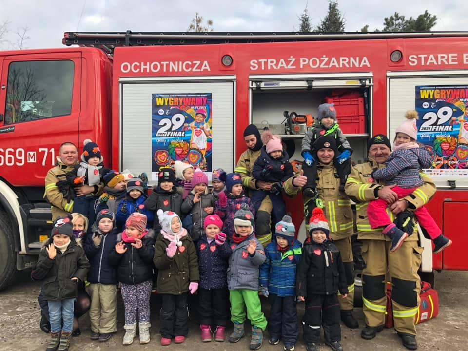 OSP Stare Babice z wizytą w Przedszkolu w Starych Babicach :)