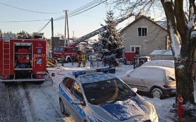 31 stycznia 2021 roku – Pożar domu w miejscowości Koczargi Stare